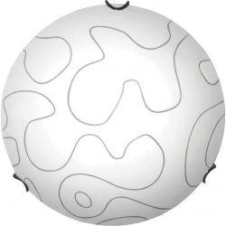 Φωτιστικό Πλαφονιέρα Οροφής Τοίχου Τρίφωτο Puzzle Μέταλλο Χρώμιο & Γυαλί Λευκό 3xE27 Φ40x9.5cm XD05400 - Aca