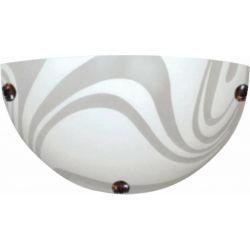 Φωτιστικό Απλίκα Επίτοιχο Pelagos Μέταλλο Χρώμιο & Γυαλί Αμμοβολή E27 30x15x8.5cm XD08302 - Aca