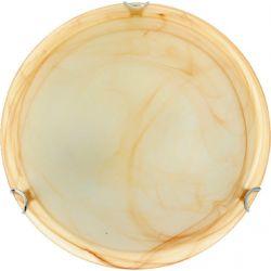 Φωτιστικό Πλαφονιέρα Οροφής Τοίχου Δίφωτο Albatre Μέταλλο Χρώμιο & Γυαλί Μελί 2xE27 Φ30x8.5cm XD01300Y - Aca