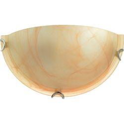 Φωτιστικό Απλίκα Επίτοιχο Albatre Μέταλλο Χρώμιο & Γυαλί Μελί E27 30x15x8.5cm XD01302Y - Aca