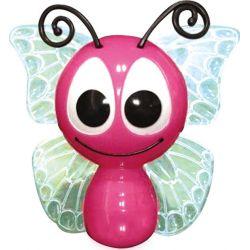 Φωτάκι Νυκτός Πρίζας Led Παιδικό Πλαστικό Πεταλούδα Ροζ με Αισθητήρα Ημέρα Νύχτας RGB 1W 851LED1P - Aca