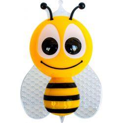 Φωτάκι Νυκτός Πρίζας Led Παιδικό Πλαστικό Μελισσούλα Κίτρινο με Αισθητήρα Ημέρα Νύχτας RGB 1W 852LED1Y - Aca