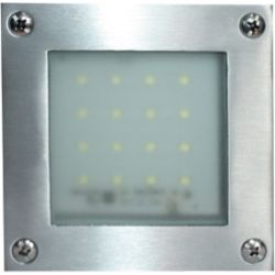 Απλίκα Led Επίτοιχη Στεγανή Inox 1.6W 130lm 6000K Ψυχρό Λευκό 10.3x10.3cm HI019AW - Aca