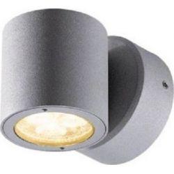 Led Σποτ Επίτοιχο Compass IP54 Γκρι 3W 211lm 3000K Θερμό Λευκό 9.8x7.7cm HI2212 - Aca