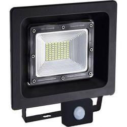 Προβολέας Led Στεγανός IP66 Μαύρος Linus 30W 2770lm 3000K Θερμό Λευκό με Αισθητήρα Κίνησης 23.9x25cm LINUS3030S - Aca