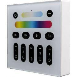 Τηλεχειριστήριο Επίτοιχο Led RGB & Dimmer 2.4GHz για 4 Ζώνες CON-00116 - Atman