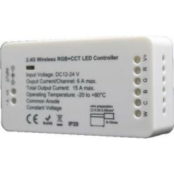 Δέκτης για Τηλεχειριστήριο Led RGB & CCT 12/24VDC CON-00114 - Atman