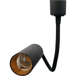 LED Σποτ Ράγας 2 Γραμμών Αλουμινίου Spiral Μαύρο 10W 85-265V 820lm 3000K Θερμό Λευκό TRC-00252 - Atman