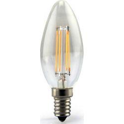 Λάμπα Led Filament Κεράκι Ε14 C35 4W 230V 500lm 6000K Ψυχρό Λευκό E14-00601W