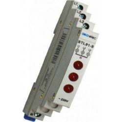 Ενδεικτική Λυχνία Ράγας Τριπλή Κόκκινη 3P 230V Σετ 24τμχ DY02170001 - Aca