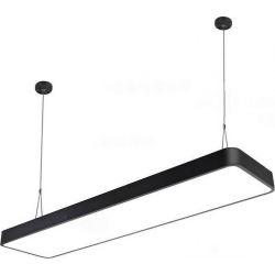 Φωτιστικό Led Πάνελ Αλουμινίου Κρεμαστό - Επίτοιχο Μαύρο 60W 6000lm 6000K Ψυχρό Λευκό 120x30cm LEG-113-W - Atman