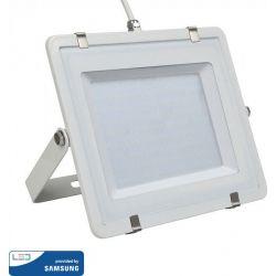 Προβολέας Led Samsung Chip 300W Ψυχρό Λευκό 6400Κ 36000lm Λευκό Σώμα 794 - V-TAC