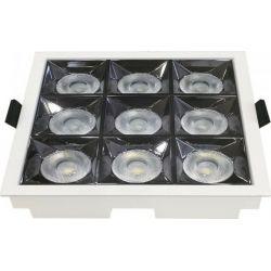 Led Φωτιστικό Σποτ Reflector Χωνευτό Τετράγωνο Samsung SMD 36W Ψυχρό Λευκό 5700Κ 2880lm 12° 13x13cm 982 - V-TAC