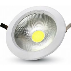 Led Φωτιστικό Οροφής Χωνευτό Στρογγυλό COB High Lumen 40W Ψυχρό Λευκό 6000Κ 4800lm 1280 - V-TAC