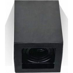 Φωτιστικό Spot Οροφής Επιφανειακό GU10 Μεταλλικό Τετράγωνο Μαύρο 10x10x14.2cm 3631 - V-TAC