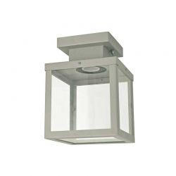 Φωτιστικό Οροφής Εξωτερικού Χώρου Celia Ατσάλι Γκρι & Γυαλί E27 IP44 16x16x22cm CELIA1CG - Aca