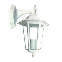 Φωτιστικό Φανάρι Επίτοιχο Αλουμινίου Λευκό E27 IP45 22x33cm HI6022W - Aca