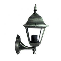 Φωτιστικό Φανάρι Επίτοιχο Αλουμινίου Πράσινο Μαύρο E27 IP45 20.1x34.4cm HI6041V - Aca
