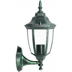 Φωτιστικό Φανάρι Επίτοιχο Αλουμινίου Πράσινο Μαύρο E27 IP45 20.3x37.5cm HI6171V - Aca