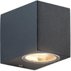 Φωτιστικό Σποτ Επίτοιχο Απλίκα Vita-GS GU10 Αλουμίνιο Γκρι Σκούρο IP54 LG2203GU10G - Aca