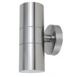 Φωτιστικό Σποτ Επίτοιχο Inox Διπλής Κατεύθυνσης Up-Down 2xMR16 IP54 Φ6cm HI7031AM - Aca