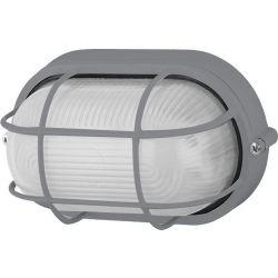 Φωτιστικό Απλίκα Τύπου Χελώνα E27 Αλουμίνιο Γκρι IP45 HI5021G - Aca