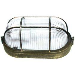 Φωτιστικό Απλίκα Τύπου Χελώνα E27 Αλουμίνιο Χρυσό Μαύρο IP45 HI5031GB - Aca