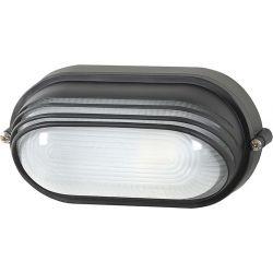 Φωτιστικό Απλίκα Τύπου Χελώνα E27 Αλουμίνιο Μαύρο IP45 HI5033B - Aca