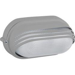 Φωτιστικό Απλίκα Τύπου Χελώνα E27 Αλουμίνιο Γκρι IP45 HI5033G - Aca