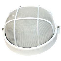 Φωτιστικό Απλίκα Τύπου Χελώνα E27 Αλουμίνιο Λευκό IP45 Φ19cm HI5011W - Aca