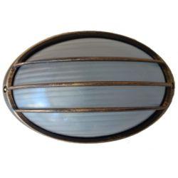 Φωτιστικό Απλίκα Τύπου Χελώνα E27 Αλουμίνιο Χρυσό Μαύρο IP45 22x15x10cm HI5074GB - Aca