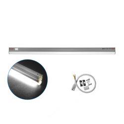 Φωτιστικό κουζίνας led Τ5 90cm επεκτεινόμενο αλουμινίου 11watt με 100smd 900lumen 230v λευκό 4000Κ