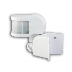 Ανιχνευτής κίνησης υπέρυθρων ακτινών λευκός επιτοίχιος γωνιακός 1200 watt 6A Ανίχνευση 270°έως 12 μέτρα ip44