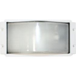 Φωτιστικό Απλίκα Τύπου Χελώνα E27 Αλουμίνιο Λευκό IP45 27x13cm HI5262W - Aca