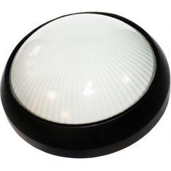 Φωτιστικό Απλίκα Τύπου Χελώνα Στρογγυλή E27 Αλουμίνιο Μαύρο IP45 25.8cm HI5042B - Aca