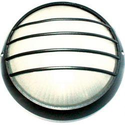 Φωτιστικό Απλίκα Τύπου Χελώνα Στρογγυλή E27 Αλουμίνιο Μαύρο IP45 25.8cm HI5044B - Aca