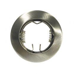 Φωτιστικό Σποτ GU10 - MR16 Χωνευτό Μεταλλικό Στρογγυλό Νίκελ Φ7.5cm AC.0451042N - Aca