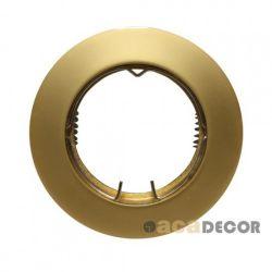 Φωτιστικό Σποτ GU10 - MR16 Χωνευτό Μεταλλικό Στρογγυλό Χρυσό Περλέ Φ7.5cm AC.0451042PG - Aca