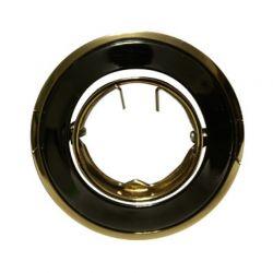 Φωτιστικό Σποτ G4 - MR11 Χωνευτό Κινητό Στρογγυλό Ατσάλι Χρυσό - Αιματίτης Φ6.4cm BS3259GPBG - Aca