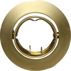 Φωτιστικό Σποτ G4 - MR11 Χωνευτό Κινητό Στρογγυλό Ατσάλι Χρυσό Περλέ Φ6.4cm AC.04532PG - Aca