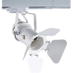 Φωτιστικό Σποτ Ράγας 4 Καλωδίων Τριφασικό GU10 Ατσάλι Λευκό 244TLW4W - Aca