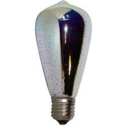 Λάμπα Led Dimmable E27 ST64 3D Filament 4W Θερμό Λευκό 2700Κ Φ64mm EDISDIM3D - Aca