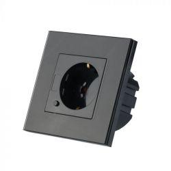 Πρίζα Σούκο WiFi Χωνευτή Μαύρη Συμβατή με Amazon Alexa & Google Home 8797 - V-TAC