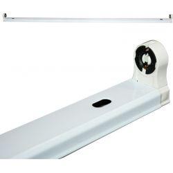 Φωτιστικό Οροφής Σκαφάκι Μονό 90cm για Λαμπτήρα LED T8 Φθορίου DELED90M - Aca