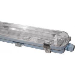 Φωτιστικό Οροφής Στεγανό Χαμηλού Προφίλ Διπλό 2xG13 T8 60cm IP65 AC.3218H - Aca