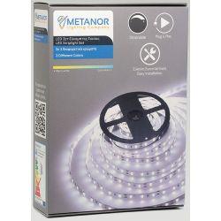 Ταινία Led SMD5050 12V 7.2W/m Θερμό Λευκό 3000K 600lm/m IP20 2.5m Σετ με Τροφοδοτικό & Dimmer White Mini Box MTH-4025 - Metanor