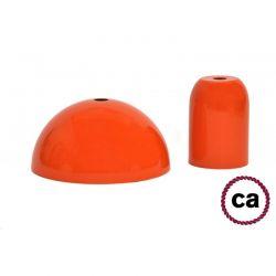 Ντουί Ε27 διακοσμητικό πορτοκαλί σέτ με ροζέτα & αξεσουάρ