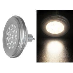 Λάμπα led ισχύος AR111 gu10 12watt  230v με 10 led δέσμης 24° 800 lumen θερμό λευκό 3000Κ Ø 111mm