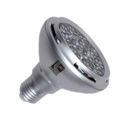 Λάμπα led ισχύος par30 E27 12watt ντιμαριζόμενη 230v με 10 led δέσμης 36°με εναλλάξιμο φακό 7500 lumen ψυχρό λευκό 6000Κ