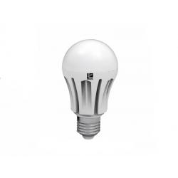 Λάμπα led τύπου αχλάδι Ε27 αλουμινίου μάτ 8watt 230v 720lumen Ø 60 ψυχρό λευκό 6400Κ